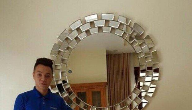 Gương trang trí phòng khách nghệ thuật decor trang trí navado !