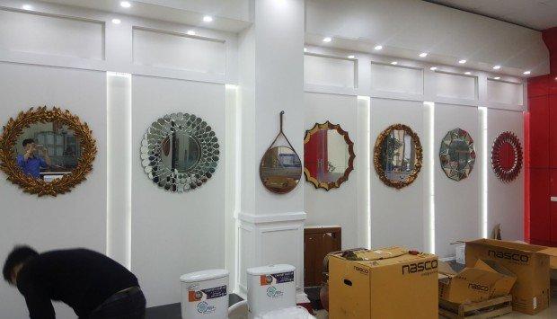 Tạo nét duyên dáng với gương trang trí nội thất