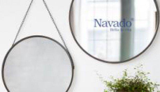 Gương tròn nghệ thuật treo dây Navado