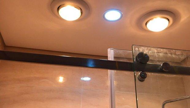 Đèn sưởi 1 bóng âm trần an toàn