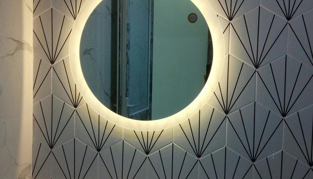 Gương bỉ trang trí nghệ thuật cao cấp nhà tắm Navado