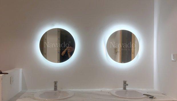 Gương nhà tắm đèn led cao cấp Navado