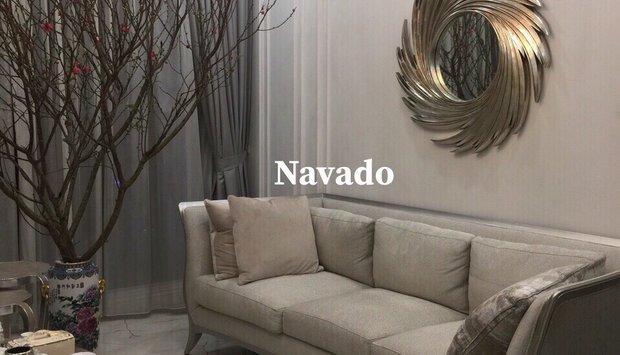 Gương trang trí tân cổ điển phòng khách Navado