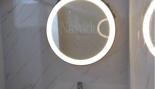 Gương phòng tắm trong trang trí nội thất