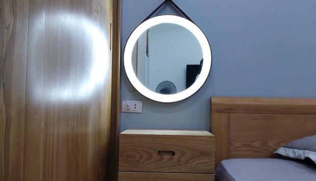 Gương trang điểm cao cấp tròn dây treo navado