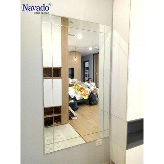 Gương ghép decor phòng ngủ