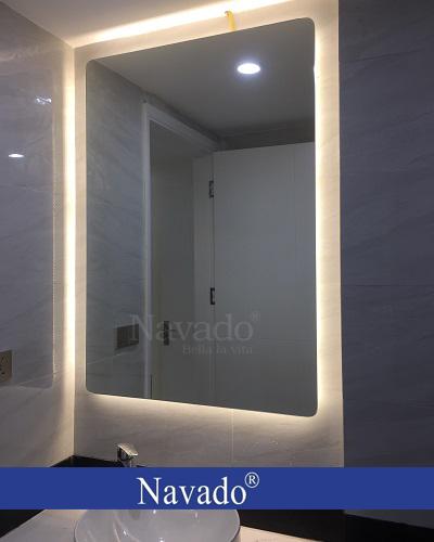 Gương phòng tắm led hắt chữ nhật