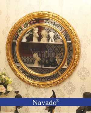 Gương treo tường phòng khách Aura