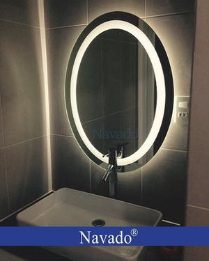 Gương bầu dục đèn led phòng tắm