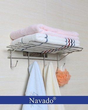 Kệ vắt khăn dán hít tường chân không GS-5014
