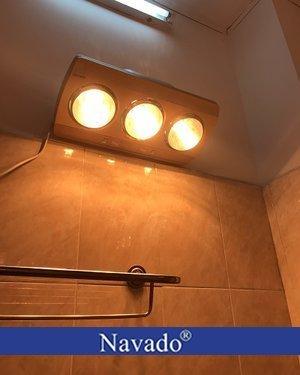 Đèn sưởi nhà tắm Navado 3 bóng