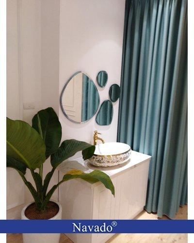 Gương phòng tắm nghệ thuật bãi đá