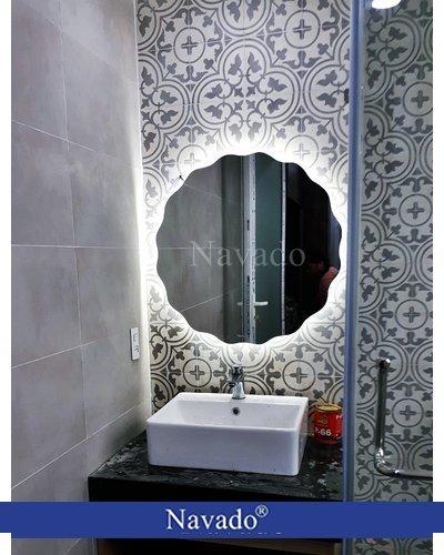 Gương phòng tắm đèn led tròn 543C