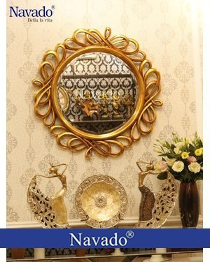 Gương trang trí phòng khách Hermes