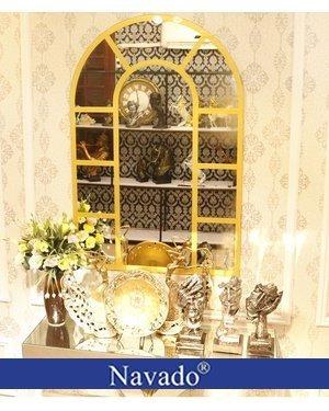 Gương bỉ trang trí Window gold