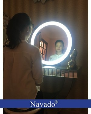Gương dây da đèn led 60cm