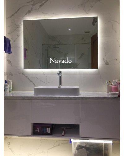 Gương chữ nhật led phòng tắm