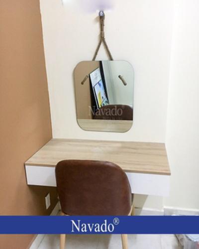 Gương decor bàn trang điểm dây thừng