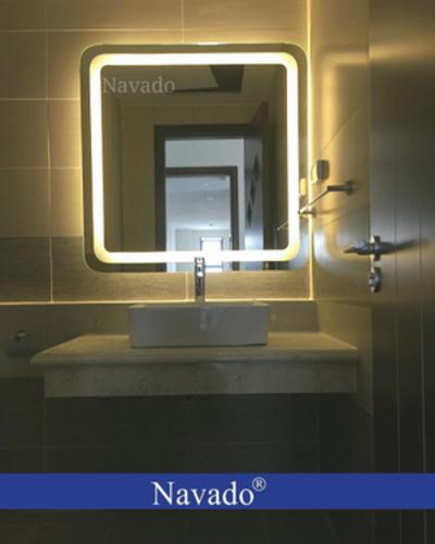 Gương led phòng tắm vuông