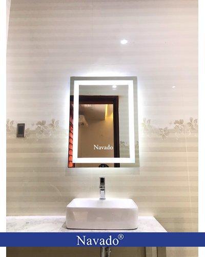 Gương đèn led chữ nhật 50 x70 cm