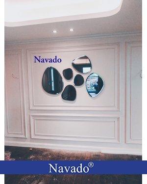 Gương ghép tường nghệ thuật phòng khách