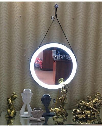 Gương dây da lục giác bàn trang điểm