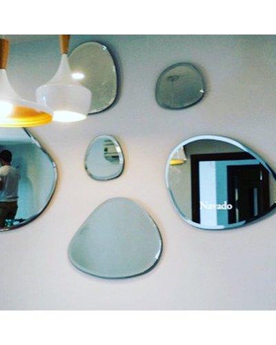 Gương decor treo tường nghệ thuật hòn cuội