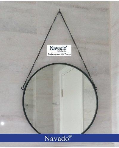 Gương phòng tắm decor dây xích 60cm