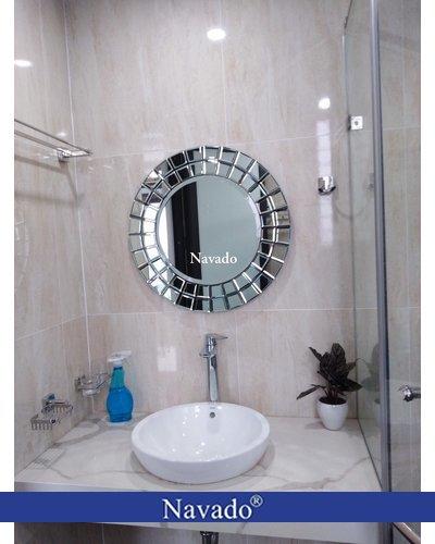 Gương tròn nhà tắm nghệ thuật The sun 60cm