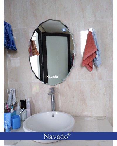 Gương phòng tắm elip đẹp NAV 542C