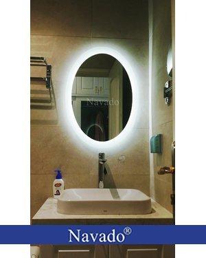 Gương elip nhà tắm led hắt cao cấp