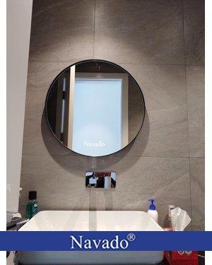 Gương phòng tắm tròn vành thép Optima