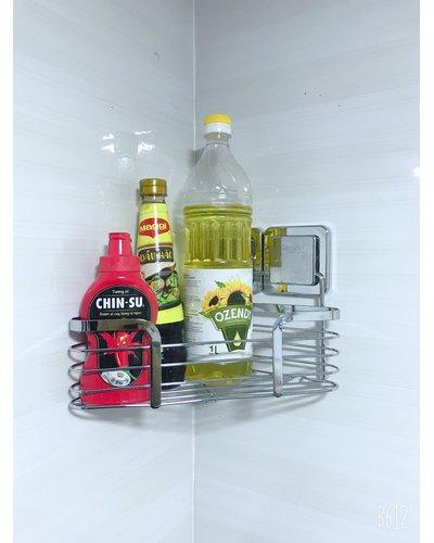 Kệ góc inox dán tường kính bếp GS-5010