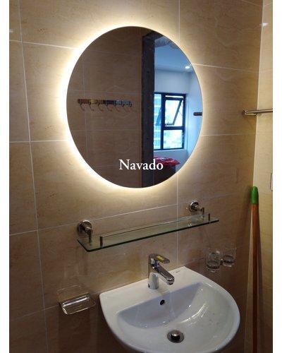 Gương tròn nhà tắm cao cấp đèn led Navado