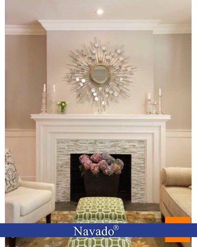 Gương nghệ thuật trang trí phòng khách hebes