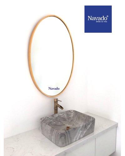 Gương phòng tắm khung vàng Elip 601C