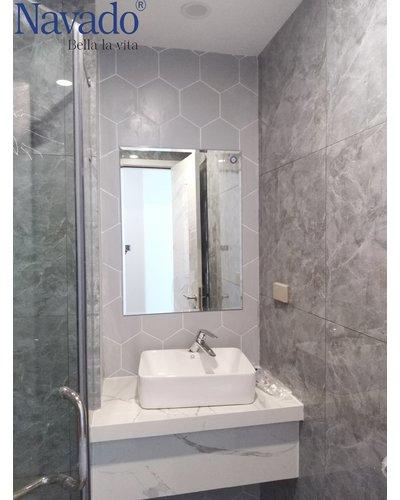 Gương phòng tắm mài vát cạnh Nav-103B