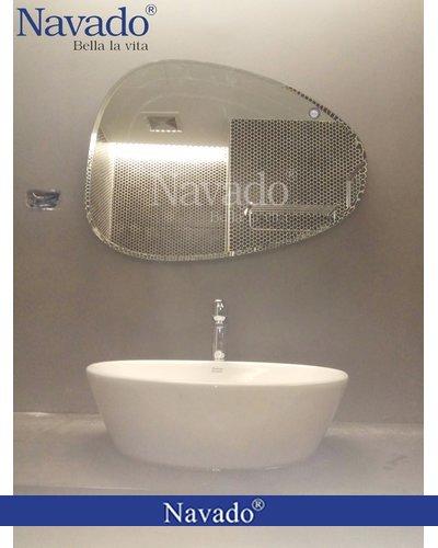 Gương phòng tắm nghệ thuật mài vát Navado 109C