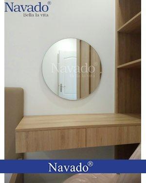 Gương bàn trang điểm mài vát D600mm