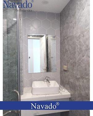 Gương phòng tắm chữ nhật mài vát cao cấp navado