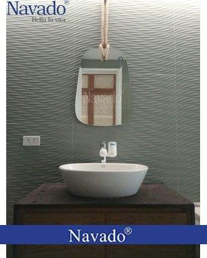 Gương decor phòng tắm dây treo Navado