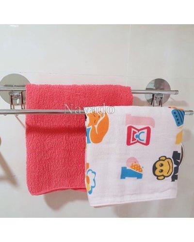 Phụ kiện phòng tắm vắt khăn đôi dán tường gạch men
