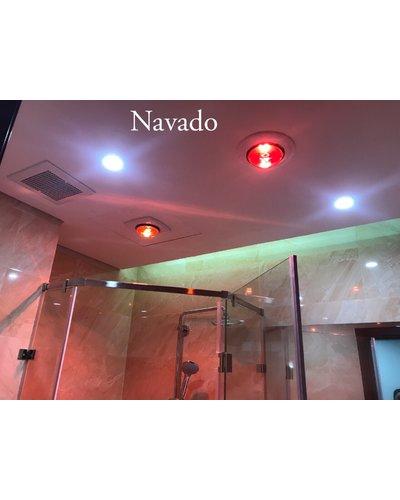 Đèn sưởi âm trần phòng tắm 2 bóng Navado