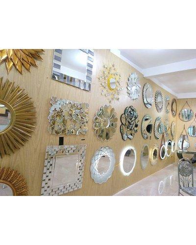 Gương treo tường trang trí decor sofa phòng khách Hebes