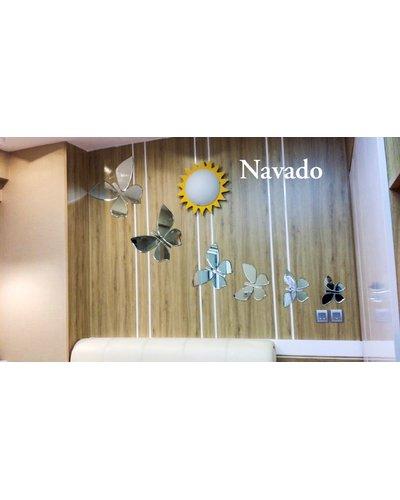 Gương nghệ thuật phòng ngủ butterfly cao cấp navado