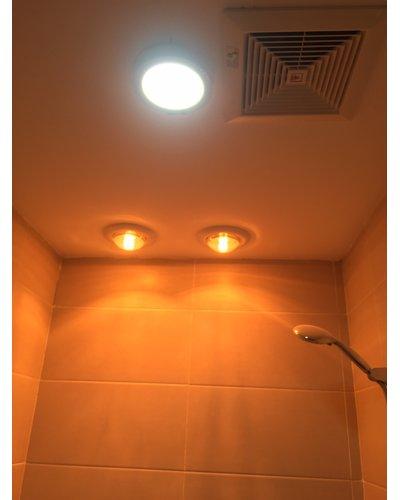 Sản xuất đèn sưởi phòng tắm âm trần 2 bóng Navado