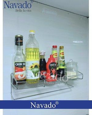 Phụ kiện inox bếp gia dụng đựng đồ dán kính màu