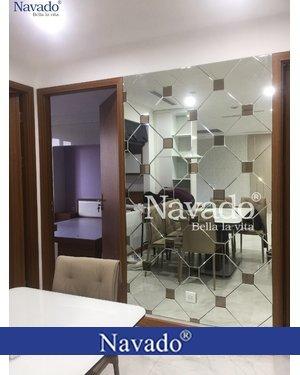 Gương soi ghép tường bàn ăn phòng khách Hà Nội