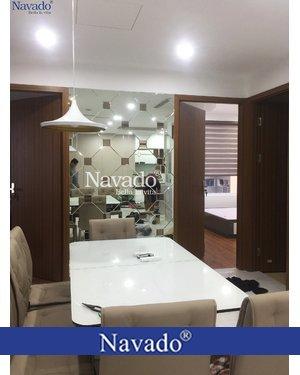 Gương ghép phòng khách nghệ thuật Decor cao cấp Navado