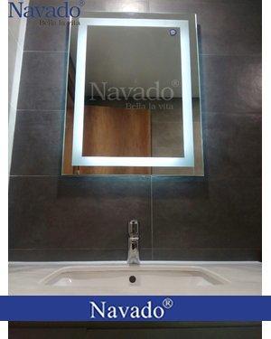 Gương bỉ đèn led phòng tắm decortreo tường
